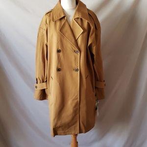 Something Navy Mustard Oversize Coat